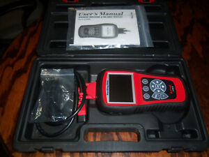 Autel Md802 Maxidiag Elite Scan Tool Car Diagnostic Scanner W Carrying Case