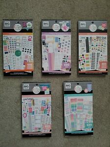 Lot Of 5 Happy Planner Fitness And Goals Sticker Books Brand New Never Used