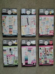Lot Of 6 Happy Planner Adulting Household Budgeting Sticker Books Brand New