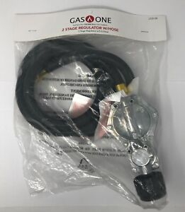 Gas One 2 Stage Regulator With 5ft Hose