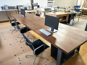 Custom Made Walnut Conference Table 173 5 Inch X 49 5 Inch X 30 375 In