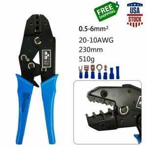 Crimping Tool For Insulated Wire Terminals Electrical Connectors Crimper 22 10aw