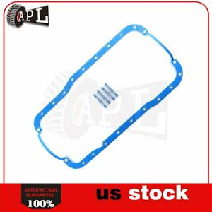 Oil Pan Gasket Fit For 85 01 Ford E 150 Econoline Lincoln Mark Vii 5 0l