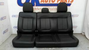 2014 Ford F150 Fx4 Crew Cab Rear Seat Assembly Black Leather
