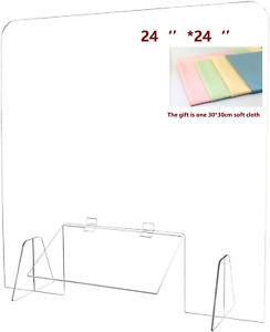 Barrier For Counter Table Desk Reception Register Counter 24 W X 24 H 0 16