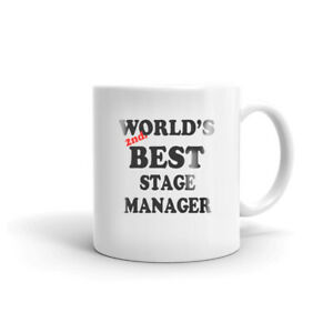 World#x27;s 2nd Best Stage Manager Coffee Tea Ceramic Mug Gift for Stage Director $12.99