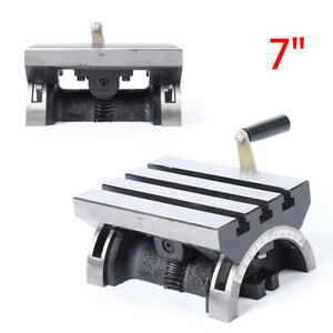 5x7 Tilting Table Adjustable Angle Plate Tilting Work Table For Milling Machine
