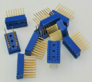 Lot Of 10 Cambion Gold 16 Pin Wire Wrap Dip Socket New