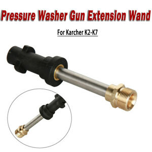 Pressure Washer Gun Extension Wand lance With Adapter For Karcher K2 k7
