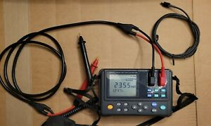 Hioki 3554 Battery Tester Used Good Condition With New Probes And Pc Cable