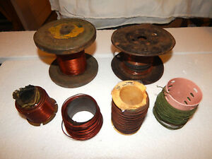 Magnet Wire 28 24 22 20 18 13 Awg Enamel Coated Copper Wire Old Spools