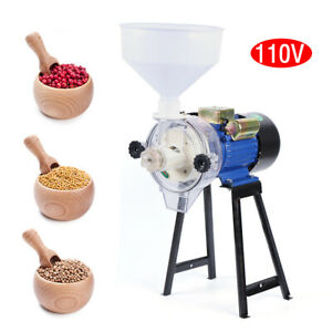 Electric Grinder 2200w Feed Mill Wet Grinder With Funnel Rice Corn Grain Coffee