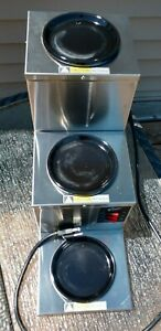 Curtis Commercial Aw 3sr 003 Triple Coffee Pot Decanter Electric Warmer