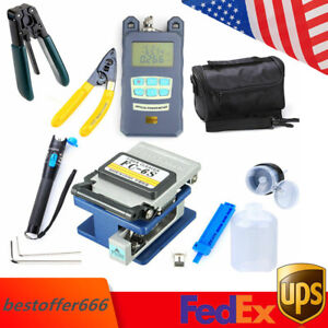 Fiber Optic Ftth Tool Kit With Fc 6s Cleaver Optical Power Meter Visual Device
