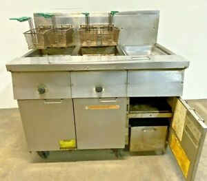 Frymaster Fm235sd Commercial 2 Well Natural Gas Fryer Filter Magic Ii System E3a
