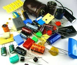 200 Pcs Capacitor Assortment Grab Bag Of Various Brands Values And Sizes Usa