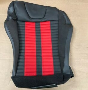 Nos 2013 2014 Ford Mustang Oem Right Recaro Seat Cover Black Red