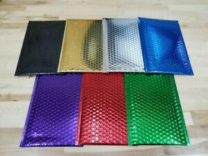 Metallic Silver 7 5 X 11 Bubble Mailers Lot Of 7