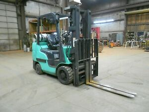 2017 Mitsubishi Fgc30n 6 000 6000 Cushion Tired Forklift W 3 Stage Ss fp