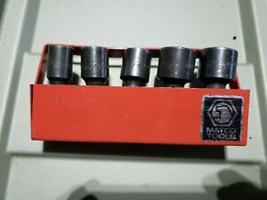 Matco Cup 5 Pc 1 2 Drive Sae 6 Point Impact Swivel Socket Set With Tray