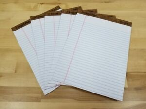 the Legal Pad Ruled Pads 8 5 X 11 75 White 50 Sheets Set Of 5