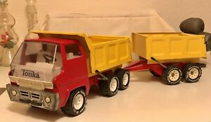 Tonka Dump Truck And Pup Trailer Restored See Photos Ready For The Sandbox