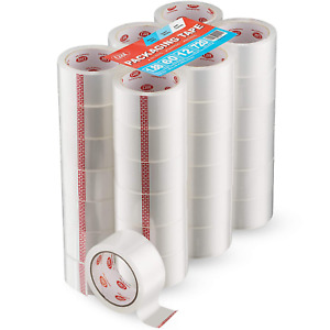 Simply Cool Clear Packing Tape Refill Rolls Bulk 36 Pack Of 60 Yards Per Roll