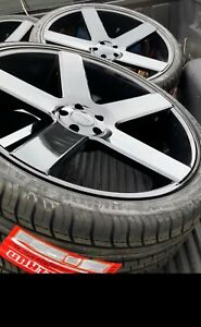 24 Inch Rims And Tires Dub Ballers Black Brand New