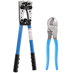For 10 0awg Battery Cable Lugs Crimping Tool Wire Cable Lug Crimper cable Cutter