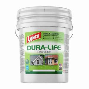 Lanco 5 Gal Dura life Clear 100 Acrylic Roof Sealant For Tiles Shingles New