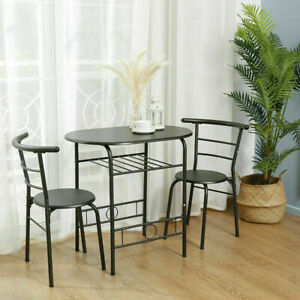 3 Piece Dining Set Table 2 Chairs Pub Home Kitchen Furniture Candlelight Dinner