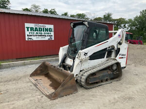 2016 Bobcat T590 Compact Track Skid Steer Loader W Cab Only 2500 Hrs Clean