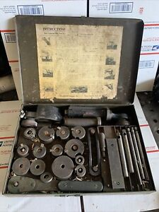 Sioux Valve Seat Ring Tool Valve Ring Cutter Set Grinder Case Albertson Co Head