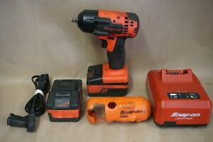 Snap On 18 Volt 3 8 Drive Impact Wrench Ct88100 Driver 2 Batteries Charger