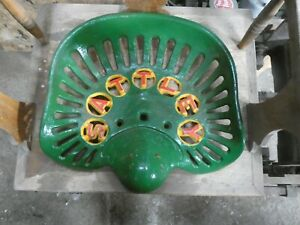 Sattley Vintage Cast Iron Tractor Implement Seat Collectibles