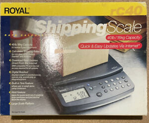 Royal Shipping Scale Rate Calculating Rc40 40lb Nob G2