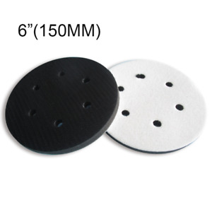 150mm Cushion Interface Pad Soft 6 Hole Hook And Loop Sanding Disc Backing Pads
