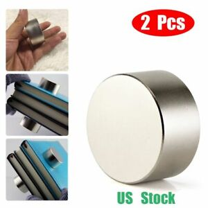 2pack Large 200lbs Neodymium Rare Earth Craft Magnet Big Super Strong Huge 40mm