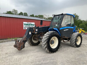 2006 New Holland Lm435a 4x4 6600lb 23ft Telescopic Forklift W Cab