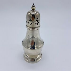 Vintage 40s Victorian Silver Plated English Muffineer Sugar Caster Powder Shaker