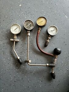 Vintage Compression Testers Gauges And Lots Of Cool Adapters Untested