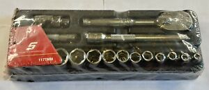 New Snap On 17 Piece Metric Socket Wrench Set 117tmm