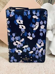 Nwt Kate Spade Zip Organizer Planner agenda calendar With Tabs Floral Leather