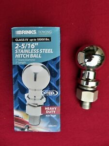 Trailer Hitch Ball 2 5 16 10 000 Lbs Stainless Steel Class Iv Heavy Duty