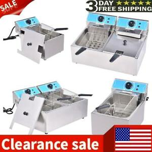 4000w 20l Electric Deep Fryer Commercial Countertop Basket French Fry Restaurant