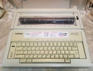 Vintage Brother Electric Typewriter Model Ax 350 With Original Cover And Handle