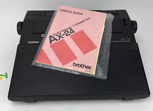 Brother Ax 24 Portable Electronic Typewriter With Manual tested Working
