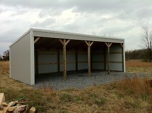 Pole Barn 12x40 Loafing Shed Material List Building Plans E file As Pdf Or Word