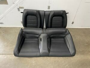 2015 2021 Ford Mustang Gt Coupe Rear Seats Black Leather Oem