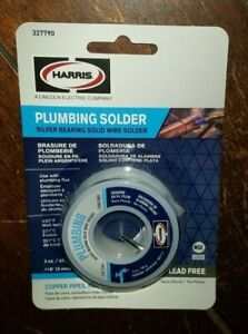 Plumbing Solder Silver Bearing Solid Wire Solder 3oz 118 lead Free 327790